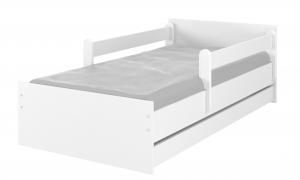 MAXMAX Detská posteľ MAX bez motívu 200x90 cm - biela