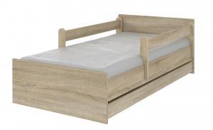 MAXMAX Detská posteľ MAX bez motívu 200x90 cm - svetlý dub