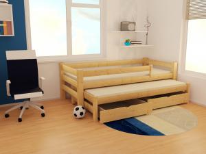 MAXMAX Detská posteľ s výsuvnou prístelkou z masívu ROBUST 8X8 7B - 200x80 cm
