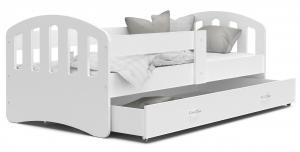 MAXMAX Detská posteľ so zásuvkou HAPPY - 200x90 cm - biela