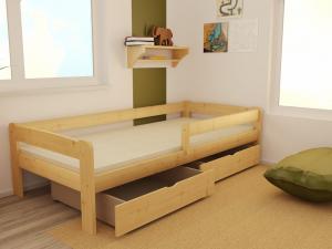 MAXMAX Detská posteľ z masívu 200x80 cm bez šuplíku - DP024 / V