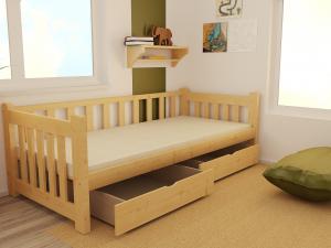 MAXMAX Detská posteľ z masívu 200x80 cm bez šuplíku - DP035