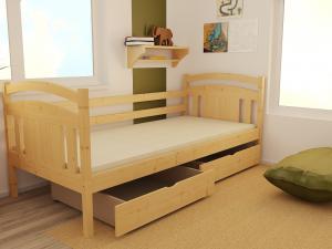 MAXMAX Detská posteľ z masívu 200x80 cm so zásuvkami - DP029