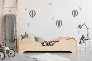 MAXMAX Detská posteľ z masívu BOX model 10 - 200x80 cm