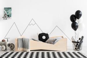 MAXMAX Detská posteľ z masívu BOX model 5 - 190x80 cm