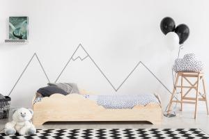 MAXMAX Detská posteľ z masívu BOX model 9 - 200x80 cm