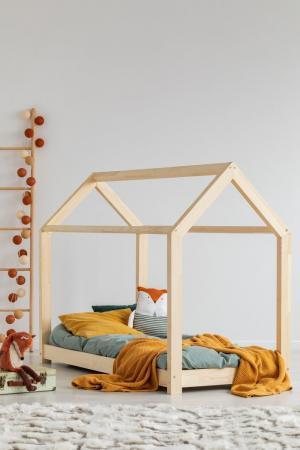 MAXMAX Detská posteľ z masívu DOMČEK - TYP A 200x80 cm