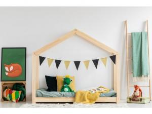 MAXMAX Detská posteľ z masívu DOMČEK - TYP C 190x80 cm