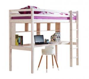 MAXMAX Detská vyvýšená posteľ s písacím stolom KLEOPATRA 200x90 cm + matrac ZADARMO!