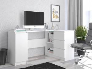MB Písací stôl Cali biela