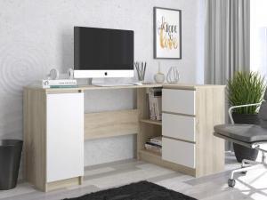 MB Písací stôl Cali dub sonoma / biela