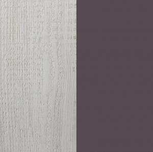 MEBLAR Regál NEXt NX7 Farebné prevedenie: Borovica bielená/viola