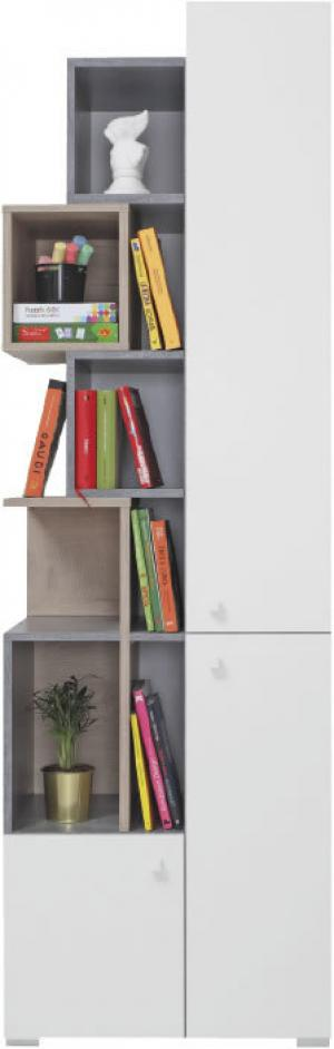 Meblar Regál Sigma SI4 Farba: beton/biela/dub