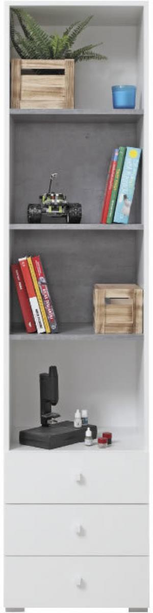 Meblar Regál Sigma SI7 Farba: biela/beton