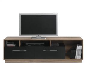 Meblar TV stolík MONSUN MN7 Farba: Orech batimore/čierna