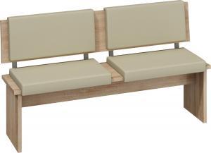 MEBLOCROSS Bond BON-01 lavica do kuchyne sonoma svetlá / béžová ekokoža