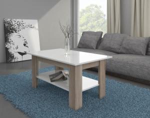MEBLOCROSS Elaiza konferenčný stolík sonoma svetlá / biela