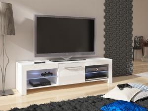 MEBLOCROSS Flex tv stolík biela