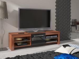 MEBLOCROSS Flex tv stolík slivka / čierna