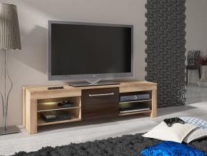 MEBLOCROSS Flex tv stolík sonoma svetlá / sonoma tmavá