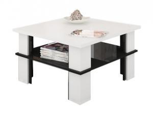 MEBLOCROSS Futura 1 konferenčný stolík biela / čierna