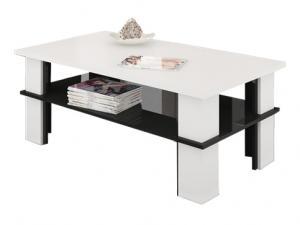 MEBLOCROSS Futura 2 konferenčný stolík biela / čierna