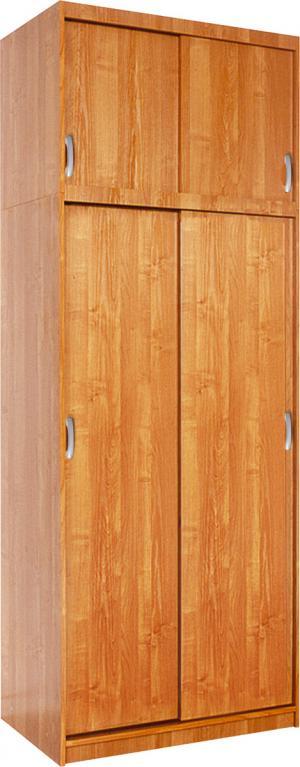 MEBLOCROSS Irena 4D šatníková skriňa s posuvnými dverami jelša
