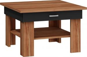 MEBLOCROSS Omega konferenčný stolík slivka / čierna