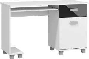 MEBLOCROSS Solo pc stolík biela / čierna