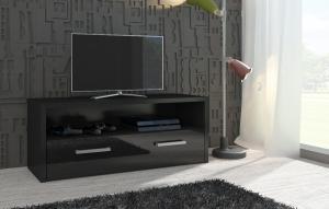 MEBLOCROSS Tirana tv stolík čierna