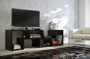 MEBLOCROSS Top univerzálny tv stolík čierna