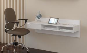 MEBLOCROSS Uno pc stolík na stenu biela