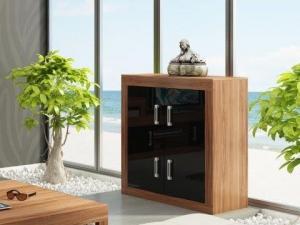 MEBLOCROSS Verin obývacia izba slivka / čierna
