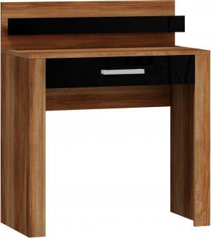 MEBLOCROSS Viki VIK-15 toaletný stolík slivka / čierna
