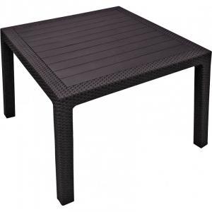 MELODY quarted stôl - hnedý