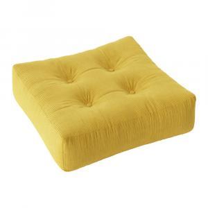 Menčestrový sedací puf Karup Design More Honey