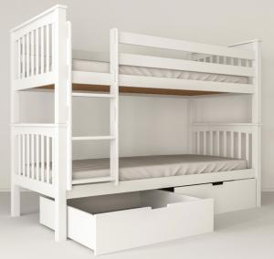 MF Poschodová posteľ Salix 200x90 Farba: Biela