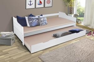 MG Detská posteľ Basty 200x90 s prístelkou Farba: Biela