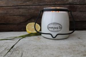 MILKHOUSE CANDLE LEMONGRASS TEA VONNA SVIECKA BUTTER JAR 2-KNOTOVA 454G, 23105