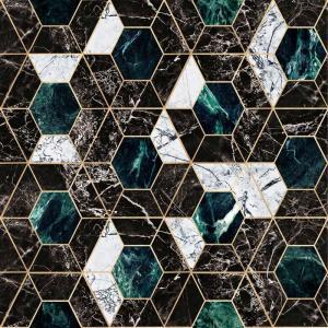 MINDTHEGAP Hexa Onyx, zelená/čierna/biela/zlatá/farebná skupina zelená/farebná skupina čierna + biela