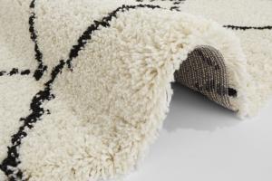 Mint Rugs - Hanse Home koberce Kusový koberec Allure 102753 Cream/Black - 160x160 (průměr) kruh cm