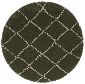 Mint Rugs - Hanse Home koberce Kusový koberec Allure 104404 Olive/Green - 120x120 (průměr) kruh cm