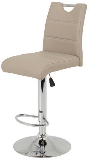 Barová stolička Miranda, cappuccino ekokoža