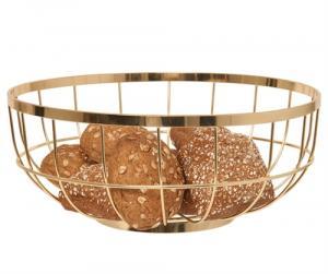 Misa na ovocie Fruit basket open grid, zlatá