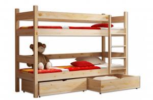 MJ Poschodová posteľ Paula 2 200x90 Grafit