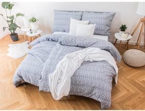 MKLuzkoviny.cz Krepové obliečky Renforcé – Timofei sivé 135 × 200 cm