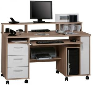 Písací stôl Model 9475, dub sonoma/biely