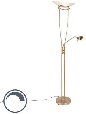 Moderná bronzová stojaca lampa vrátane LED a stmievača - Lexus