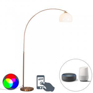 Moderná inteligentná oblúková lampa medená vrátane A60 Wifi - Arc Basic