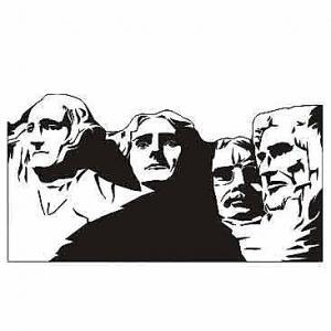 Moderná Nálepka Mount Rushmore USA PX 71